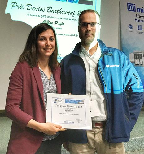 An IFPEN researcher receives an award for her thesis on zeolites