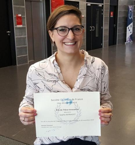 Sophie Bernadet wins the French Chemistry Society's thesis innovation award