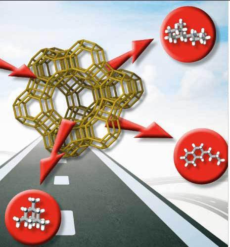 How zeolites convert cyclic molecules