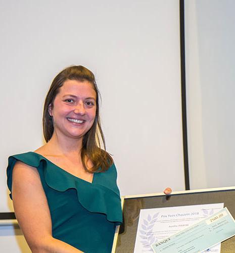 Aurélie Pirayre, IFPEN's 2018 Yves Chauvin prize-winner