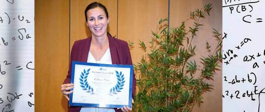 The 2019 Yves Chauvin prize awarded to Céline Pagis for her work on the chemistry of materials and catalysis