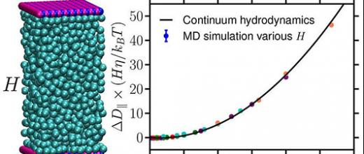 Improving the simulation of the transport process in nanopores using molecular dynamics